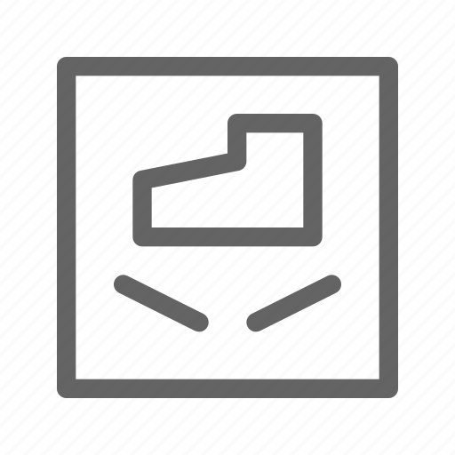 box, do not step, package, warning icon