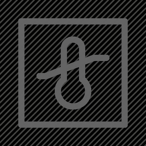 box, limitations, temperature icon