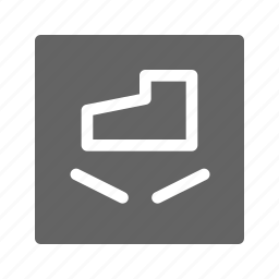do not step, package, warning icon