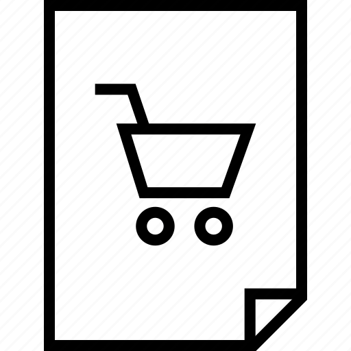 cart, document, layout, page, pages, shop icon