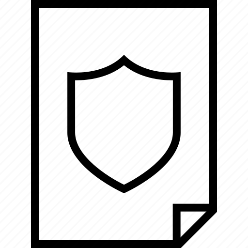 document, layout, page, pages, safe, shield icon