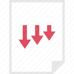 arrows, down, form, layout, page icon