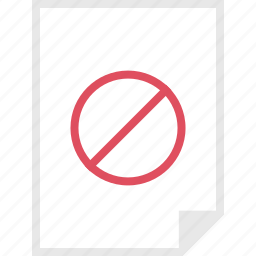 denied, form, layout, page icon