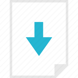 arrow, down, form, layout, page icon