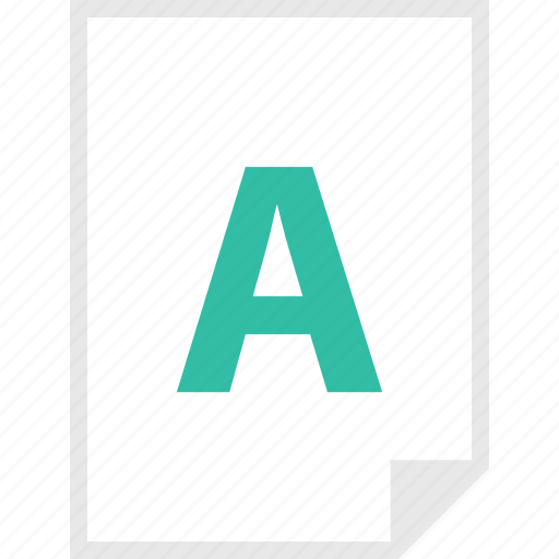 a, form, layout, letter, page icon