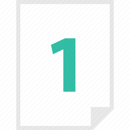 form, layout, number, one, page icon
