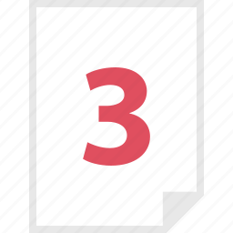 form, layout, number, page, three icon