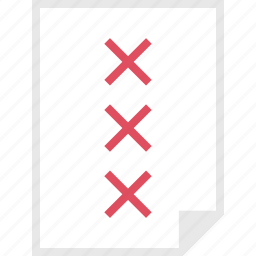 form, layout, page, three, x icon