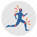 body, dots, health, man, pain, shock icon