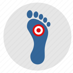 foot, footstep, health, pain icon