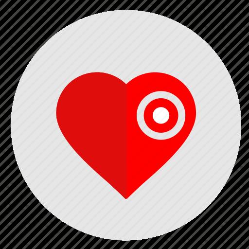 dot, health, heart, illness, man, shock icon