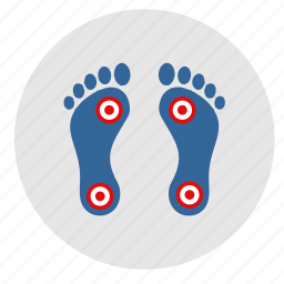 dots, foot, footstep, health, man, pain icon