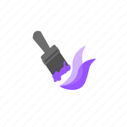 brush, color, paint, paintbrush, purple, stroke, tool icon