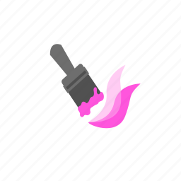 brush, color, paint, paintbrush, pink, stroke, tool icon
