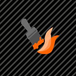 brush, color, orange, paint, paintbrush, stroke, tool icon