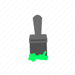 brush, color, green, paint, paintbrush, tool icon
