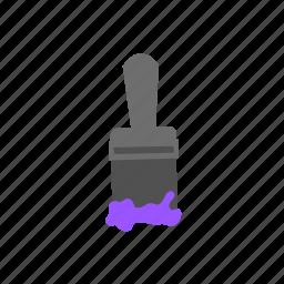 brush, color, paint, paintbrush, purple, tool icon