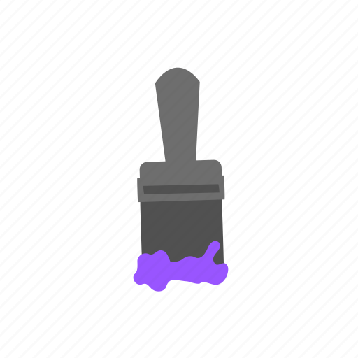 brush, color, paint, paintbrush, purple, tool icon