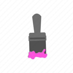 brush, color, paint, paintbrush, pink, tool icon