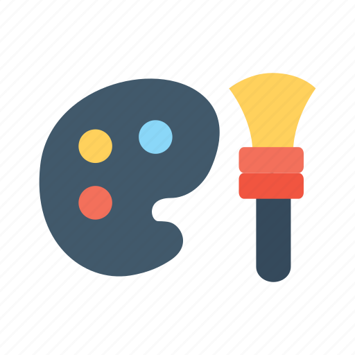 brush, color, custom, paint, picture, smartphone, theme icon