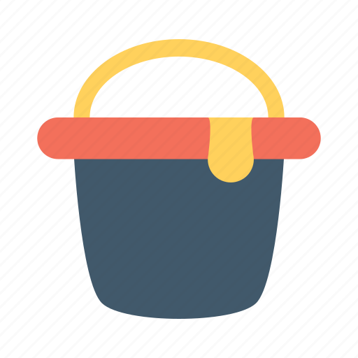 brush, bucket, color, paint, picture, smartphone, theme icon