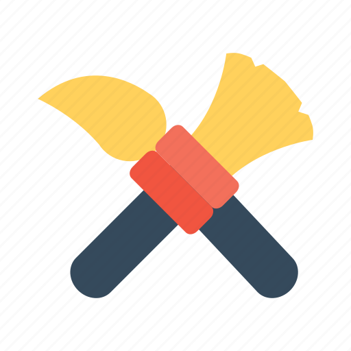 brush, color, cross, paint, picture, smartphone, theme icon