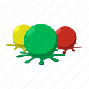 balls, blob, cartoon, colorful, paint, paintball, splashes icon