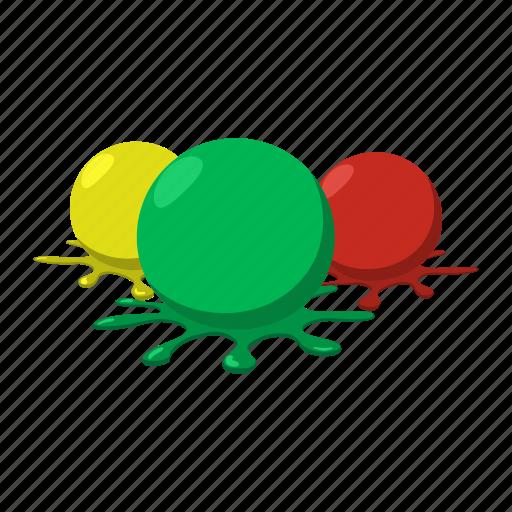 Balls Blob Cartoon Colorful Paint Paintball Splashes Icon