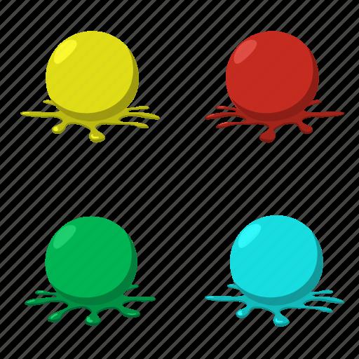 balls, blob, cartoon, colorful, paint, paintball, splashes icon