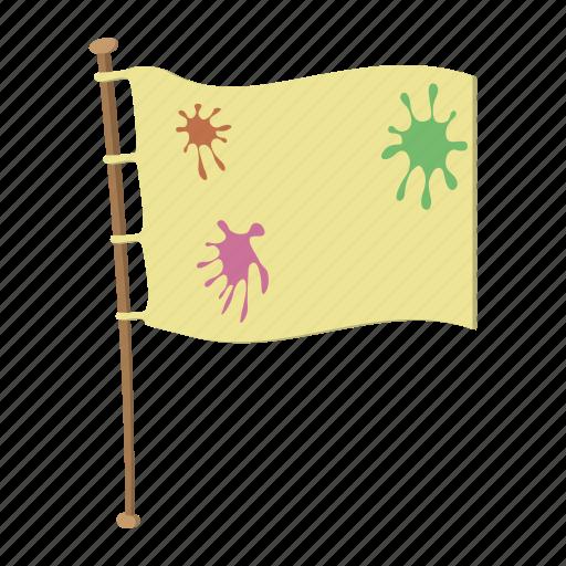 cartoon, flag, flagpole, paintball, peace, team, wooden icon