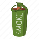 bomb, cartoon, grenade, hand, military, paintball, smoke icon