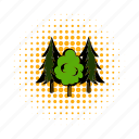 fir-tree, forest, scaffold, spruce, three, tree, wood icon