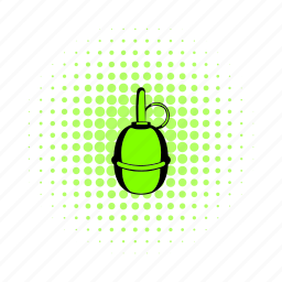 bomb, comics, grenade, hand-grenade, pine, pineapple, trench-bomb icon