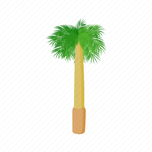 cartoon, design, palm, royal, style, summer, tree icon