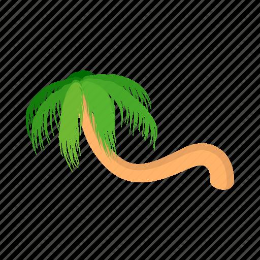 beach, cartoon, curved, palm, summer, tree, tropical icon