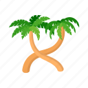 beach, cartoon, palm, relax, rest, summer, tree icon