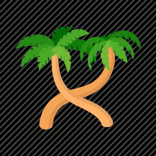 Beach Cartoon Palm Relax Rest Summer Tree Icon