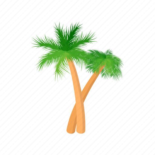 cartoon, design, palm, rest, style, summer, tree icon