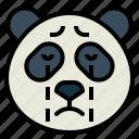 panda, bear, animal, head, cry
