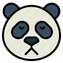 panda, bear, animal, head, sad