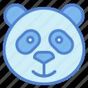 panda, bear, animal, head, smile