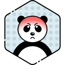 angry, bear, face, panda icon