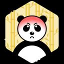 angry, bear, face, panda