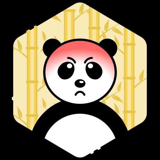 angry, bear, face, panda icon