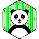 face, heart, love, panda icon
