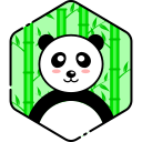 bear, face, happy, panda icon