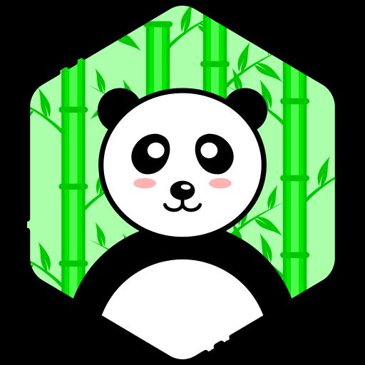 bear, face, happy, panda icon