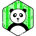 bear, face, panda, smile icon