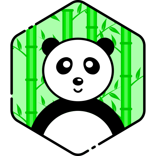 bear, face, panda, smile icon