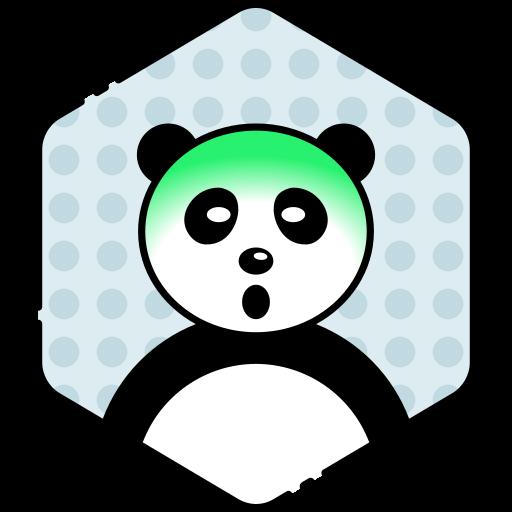 face, panda, sick icon